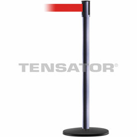 Tensabarrier Hammer Gray Slimline 7.5'L Red Retractable Belt Barrier