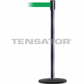 Tensabarrier Hammer Gray Slimline 7.5'L Green Retractable Belt Barrier