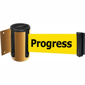 Tensabarrier Yellow Mini Wall Mount 13'L BLK/YLW Cleaning in Progress Retractable Belt Barrier