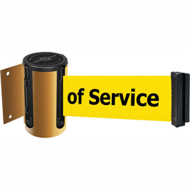 Tensabarrier Yellow Mini Wall Mount 13'L BLK/YLW Out of Service Retractable Belt Barrier