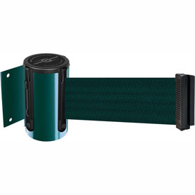 Tensabarrier Green Mini Wall Mount 7.5'L Green Retractable Belt Barrier