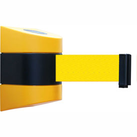Tensabarrier Yellow Wall Mount 24'L Yellow Retractable Belt Barrier