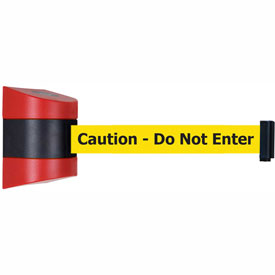 Tensabarrier Red Wall Mount 15'L BLK/YLW Caution-Do Not Enter Retractable Belt Barrier