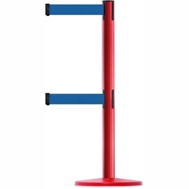 Tensabarrier Red Advance Univ Dual Line 7.5'L Blue Retractable Belt Barrier