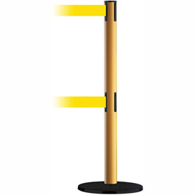 Tensabarrier Yellow Adv Univ Dual Line 7.5'L Yellow Retractable Belt Barrier