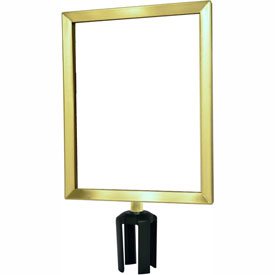 "Tensabarrier Satin Brass Heavy Duty 11""x14"" Sign Frame"