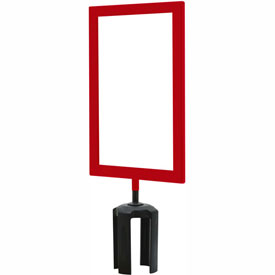"Tensabarrier Red Heavy Duty 7""x11"" Sign Frame"