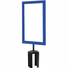 "Tensabarrier Blue Heavy Duty 7""x11"" Sign Frame"