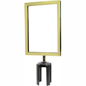"Tensabarrier Polished Brass Heavy Duty 7""x11"" Sign Frame"