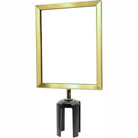 "Tensabarrier Satin Brass Heavy Duty 8.5""x11"" Sign Frame"
