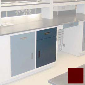"Lab Base Cabinet 18""W x 22-1/2""D x 35-3/4""H, 1 Drawer, 1 Cupboard Door W/1 Adj Shelf, Burgundy"