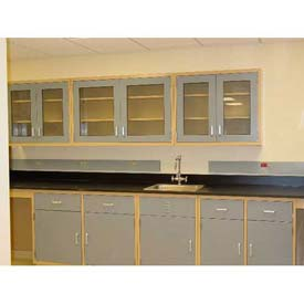 "Lab Design Sink Bench 3'-3/4""H X 30""D X 107""W, Navy Blue"