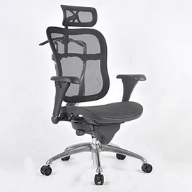 ShopSol Executive Office Chair - Mesh Seat and Back - Black