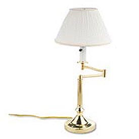 Lacquered, Solid Brass Swivel Arm Lamp, Mushroom Shade, 20 High
