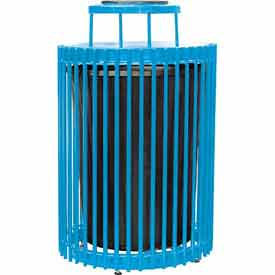 32 Gallon Steel Rod Receptacle - Blue