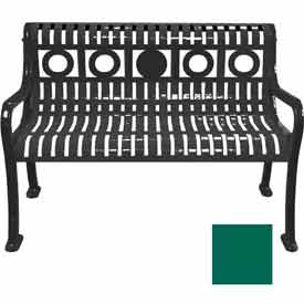 4' Ring Pattern Bench - Green