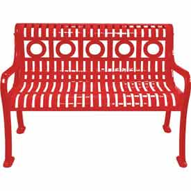 4' Ring Pattern Bench - Red