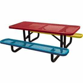 6' Child's Picnic Table, Expanded Metal, Portable Mount, Multi Colors