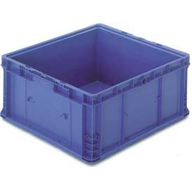 "ORBIS Stakpak NXO2422-11 Modular Straight Wall Container, 24""L x 22-1/2""W x 10-29/32""H, Blue"