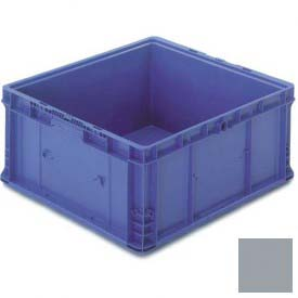 "ORBIS Stakpak NXO2422-11 Modular Straight Wall Container, 24""L x 22-1/2""W x 10-29/32""H, Gray"