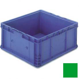 "ORBIS Stakpak NXO2422-14 Modular Straight Wall Container, 24""L x 22-1/2""W x 14-1/2""H, Green"