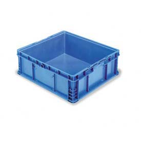 "ORBIS Stakpak NSO2422-9 Modular Straight Wall Container, 24""L x 22-1/2""W x 8-11/16""H, Blue"