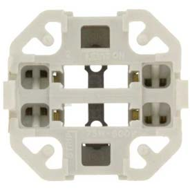 Leviton 26725-429 Vertical Snap-In Fluorescent Lampholder For 26/32/42 Watt Lamps, White -Min Qty 23