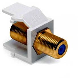 Leviton 40831-BW QuickPort F-Type Adapter, Gold-Plated, White