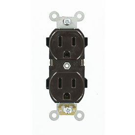 Leviton 5252 15A, 125V, Duplex Receptacle, Brown