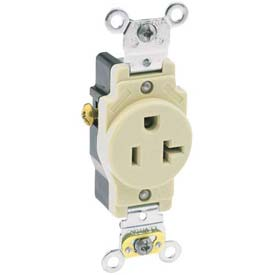 Leviton 5361 20a, 125v, Single Receptacle, Brown - Min Qty 15
