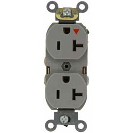 Leviton 5362-Igg 20a, 125v, Duplex Receptacle, Isolated Ground, Gray - Min Qty 24