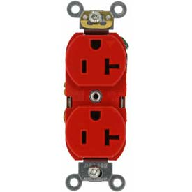 Leviton 5362-Igr 20a, 125v, Duplex Receptacle, Isolated Ground, Red - Min Qty 24