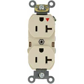Leviton 5362-Igt 20a, 125v, Duplex Receptacle, Isolated Ground, Light Almond - Min Qty 10