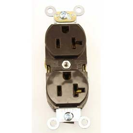 Leviton 5362-S  Duplex Receptacle, Straight Blade, Brown