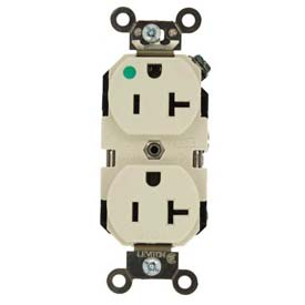 Leviton 8300-T 20a, 125v, Duplex Receptacle, Light Almond - Min Qty 11