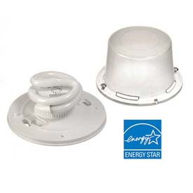 Leviton 9860-Lhg Cfl Keyless Lampholder With Pig Tail Leads Polycarbonate Housing, White - Min Qty 9
