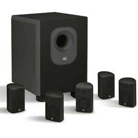 Leviton AEH50-BL JBL 5-Channel Surround Sound Home Cinema Speaker System, Black