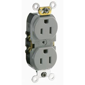 Leviton CR015-GY 15A, 125V, Slim Body Duplex Receptacle,, Gray
