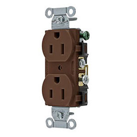 Leviton CR015 15A, 125V, Slim Body Duplex Receptacle,, Brown
