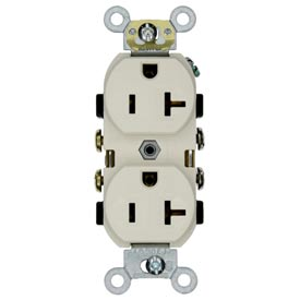 Leviton CR20-W 20A, 125V, Duplex Receptacle, Self Grounding, White