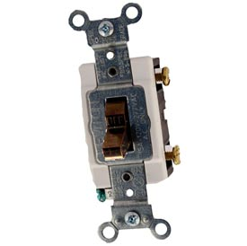 Leviton CS115-2 15 Amp, 120/277 Volt,  Single-Pole, Grounding, Side Wired, Brown