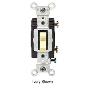 Leviton CS115-2E 15A, 120/277V,  Single-Pole, Blk