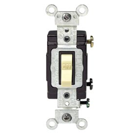 Leviton CS120-2I 20A, 120/277V,  Single-Pole, Ivory