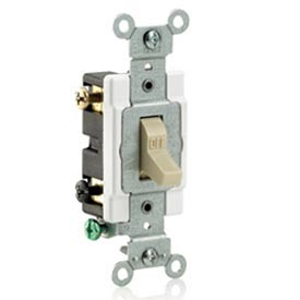 Leviton Cs215-2gy 15a, 120/277v,  Double-Pole, Grounding, Gray - Min Qty 23