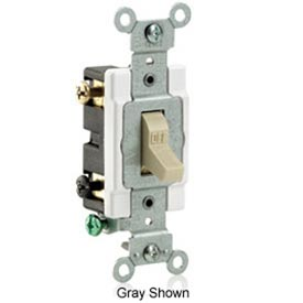 Leviton Cs215-2i 15a, 120/277v,  Double-Pole, Grounding, Ivory - Min Qty 23