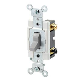 Leviton Csb2-20w 20a, 120/277v, Double-Pole, Grounding, White - Min Qty 14
