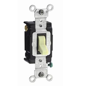 Leviton Csb4-15w 15a, 120/277v, 4-Way, Grounding, White - Min Qty 15