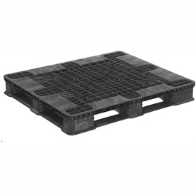 "ORBIS Stack'R Stackable Plastic Pallet 40X48 Stack'R PE-Z - 48""L x 40""W x 5-9/10""H"