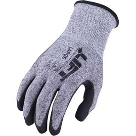 Lift Safety Cut Resistant Staryarn Double Dipped Sandy Nitrile Glove, Medium, GSN-12KM
