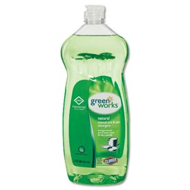 Green Works Manual Pot & Pan Dish Liquid Original, 38 Oz. Squeeze Bottle 8/Case COX30381CT by